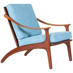 Arne Hovmand-Olsen Teak Lounge Chair for Mogens Kold