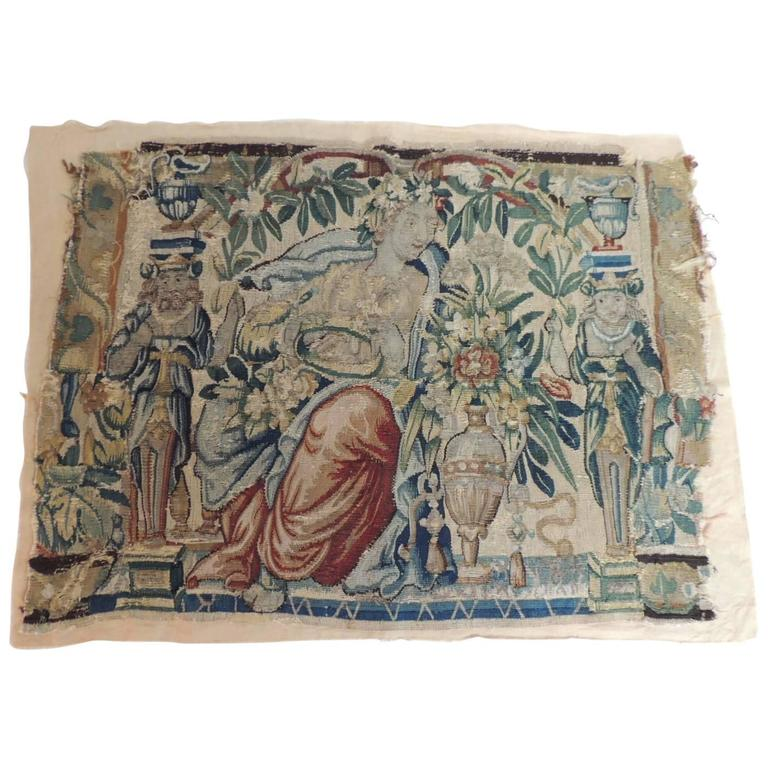 18th Century Aubusson Tapestry A.T.G. Panel