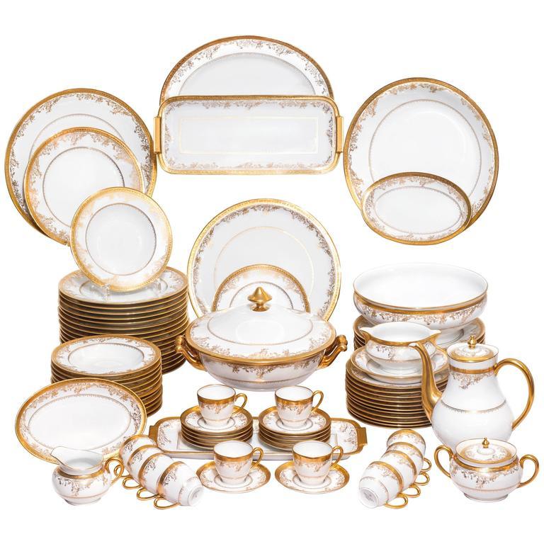 French Limoges Porcelain Haviland Mod Diplomate Table