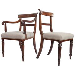 Set of Sixteen Early 19th Century English Regency Dining Chairs