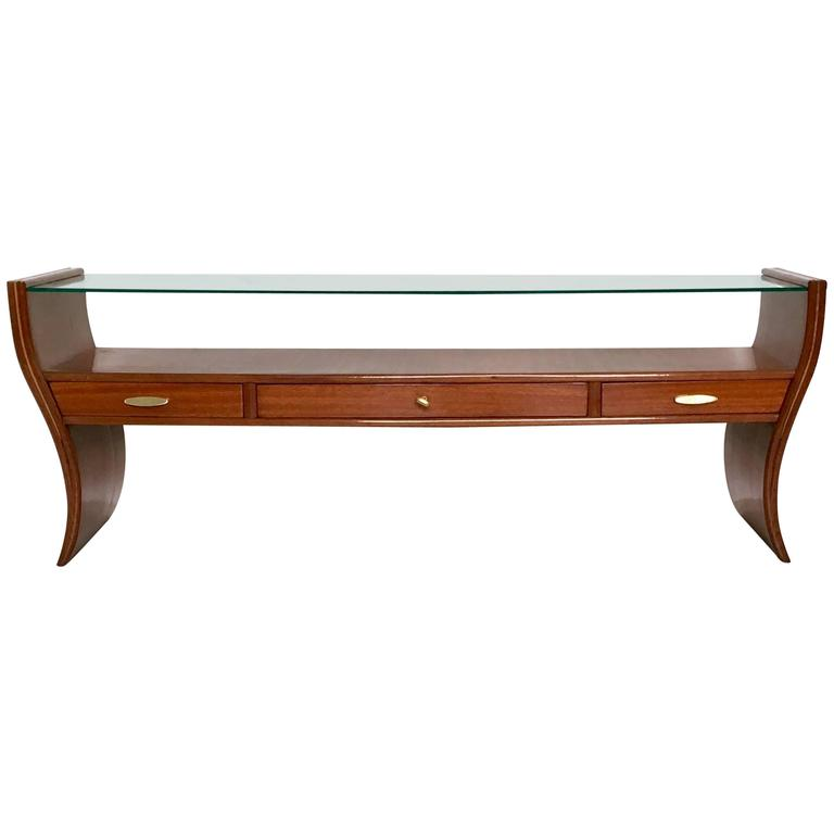 Console Table, Tv Stand Or Vanity Ascribable To Guglielmo Ulrich,  1940s 1950s For