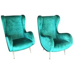 Italian Midcentury Armchairs in the Style of Marco Zanuso