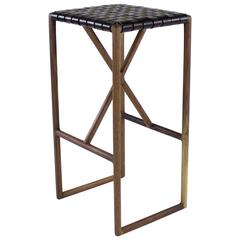 Montgomery Modern Leather Barstool