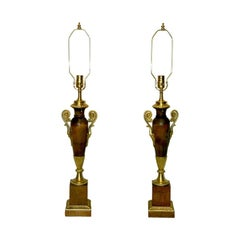 Wooden Empire-Style Lamps