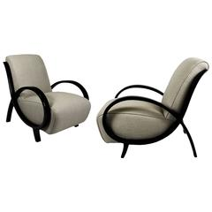 Pair of Art Deco Rounded Armchairs