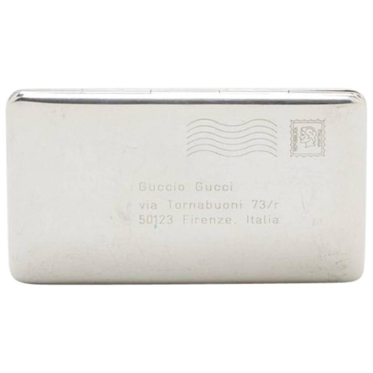 Sterling Silver Gucci Business Card Case at 1stdibs
