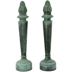 Pair of Torch Form Architectural Details