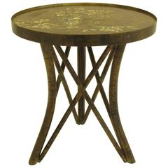 Rare Acid Etched Asian Style Cocktail Table by Philipp and Kelvin Laverne