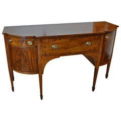 Period American Federal Mahogany Sideboard with Original Desk Interior