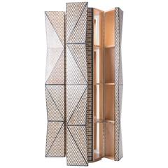 China Steel Corporation Tower Cabinet - Basswood with Resin Inlay - Naihan Li