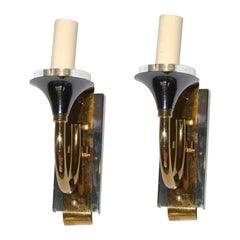 Pair of Moderne Sconces