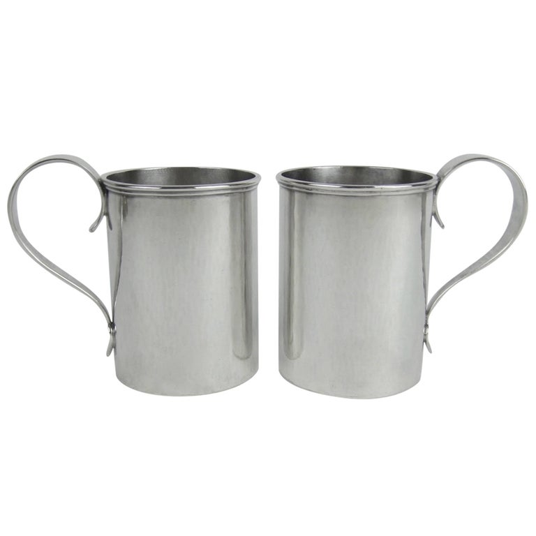 American Sterling Silver Arts & Crafts Cups by Marie Zimmermann For Sale