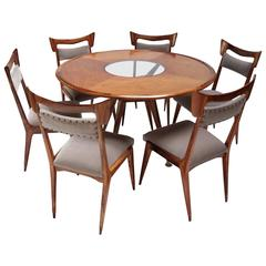Liceu de Artes 1960s Brazilian Caviuna Dining Table and Chairs