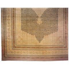 Antique Persian Tabriz Hadji Jalili Oriental Carpet, circa 1870, Mansion Sized