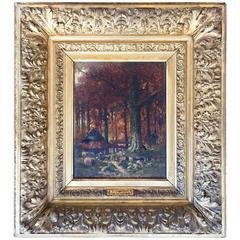"""""""Grazing Near the Woods"""" by Franz Van Severdonck"""