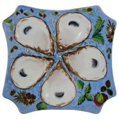 Continental Square Shaped Five Well Blue Oyster Plate