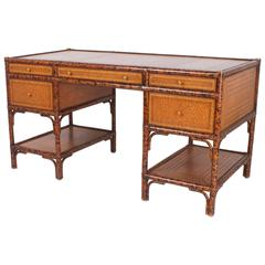 Faux Tortoise Frame Maitland-Smith Desk