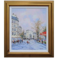 Rare Extra Large Deluxe Orig Jean Pierre Dubord Champs Elysees Paris Painting