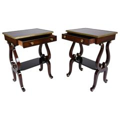 Pair of English Regency Style Side Tables