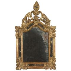 18th Century French Regence Gilt Mirror