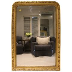Early 19th Century Antique French Gilded Louis Philippe Mirror