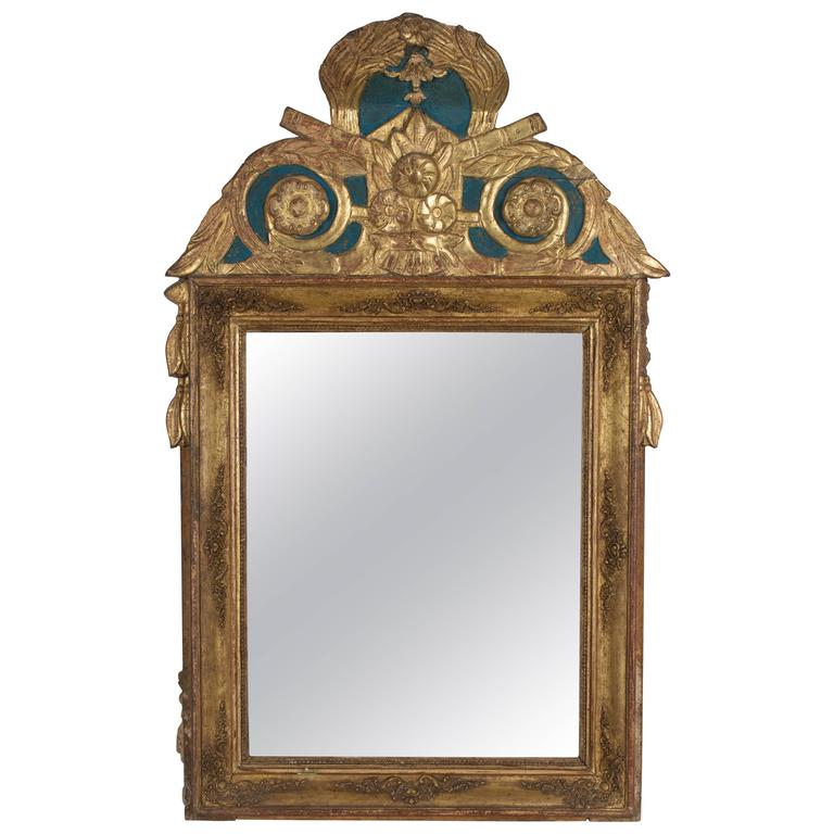 19th Century French Regence Style Gilded Mirror
