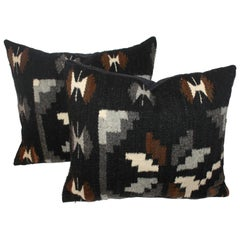 Pair of Geometric Navajo Weaving Pillows
