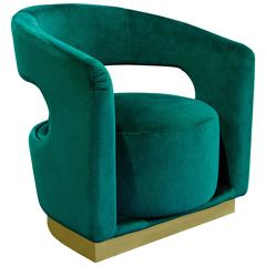 Mid-Century Modern Style Sculptural Retro Brass Ellen Armchair