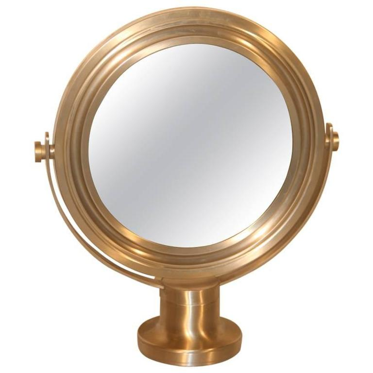 Swivel Mirror Brushed Metal Artemide Sergio Mazza, 1960s