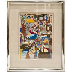 """1970'S """"Yearn for Peace"""" Lithograph By, Yona Lotan Signed Artist Proof"""