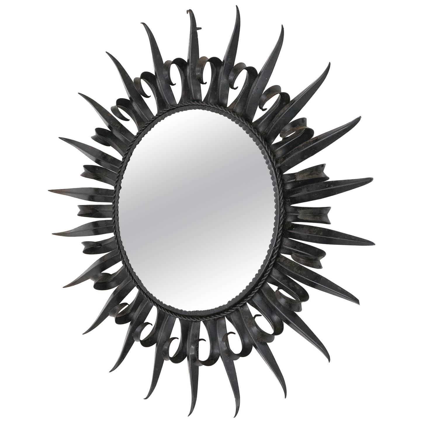 Wrought Iron Wall Mirrors - 72 For Sale at 1stdibs