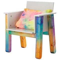 Easy Chair by Fredrik Paulsen in Rainbow colour wash