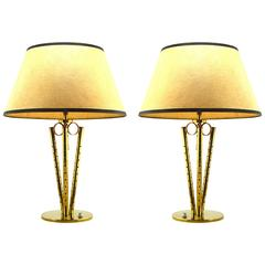 Pair of French Art Deco Table Lamps, 1940s