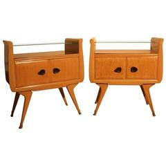 Italian Mid-Century Nightstands, 1950 Maple