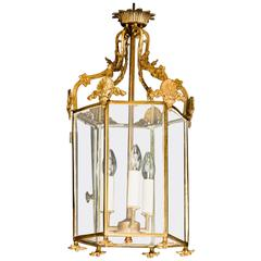 Georgian Style Brass Lantern