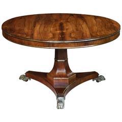 Antique Regency Rosewood Circular Table