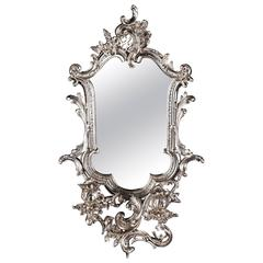 20th Century Rococo Style Wall Mirror with Candleholders