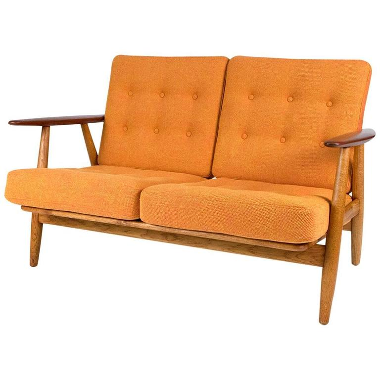 Hans J. Wegner GE 240 Oak And Teak Cigar Sofa, 1955 1
