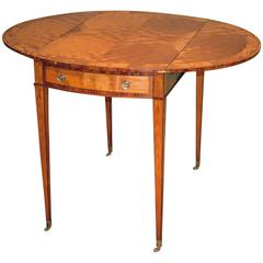 Antique Late 18th Century Satinwood Pembroke Table