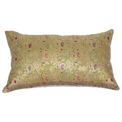 Antique Pillow Made Out of a 19th Century Persian Brocade