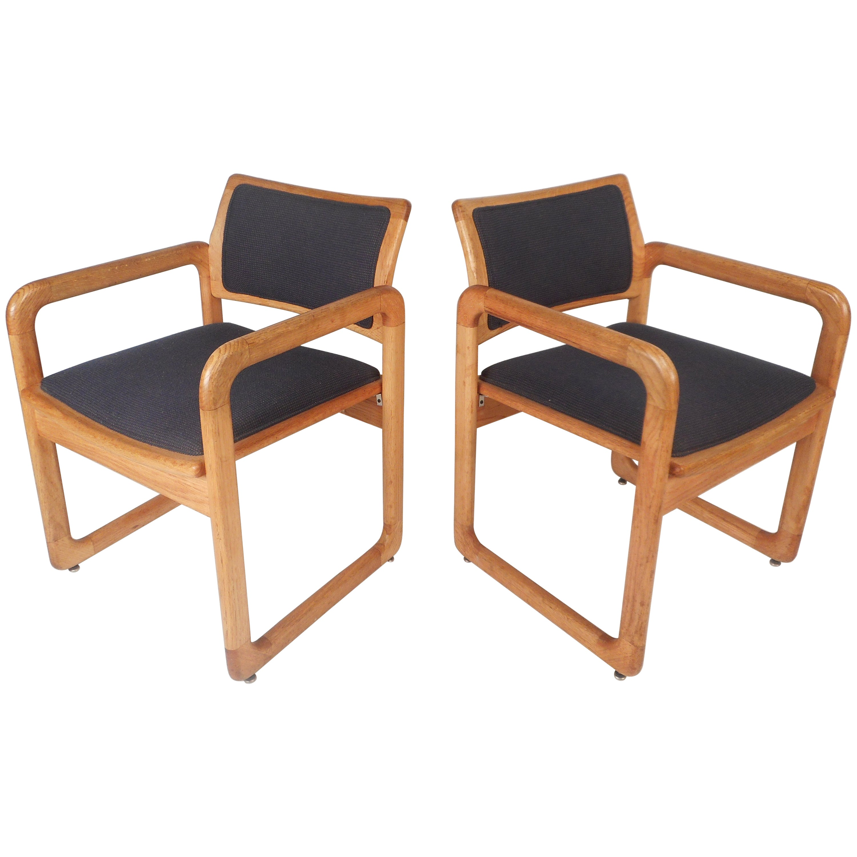 Pair Mid-Century Side Chairs