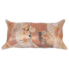 Pillow Made Out of a Japanese, Mid-20th Century Obi