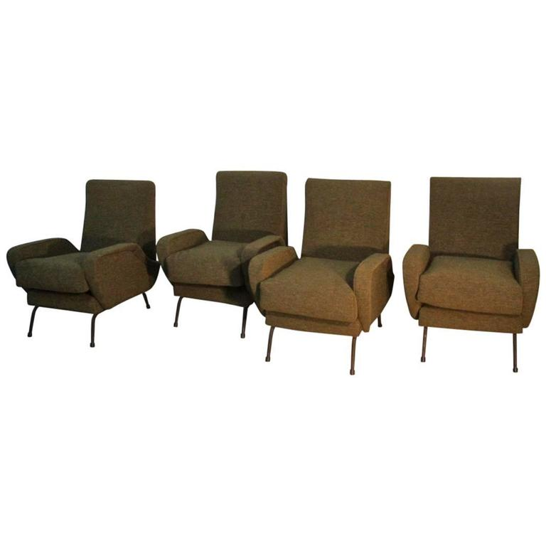 Armchairs Italian Mid-Century Design Particular Form at ...