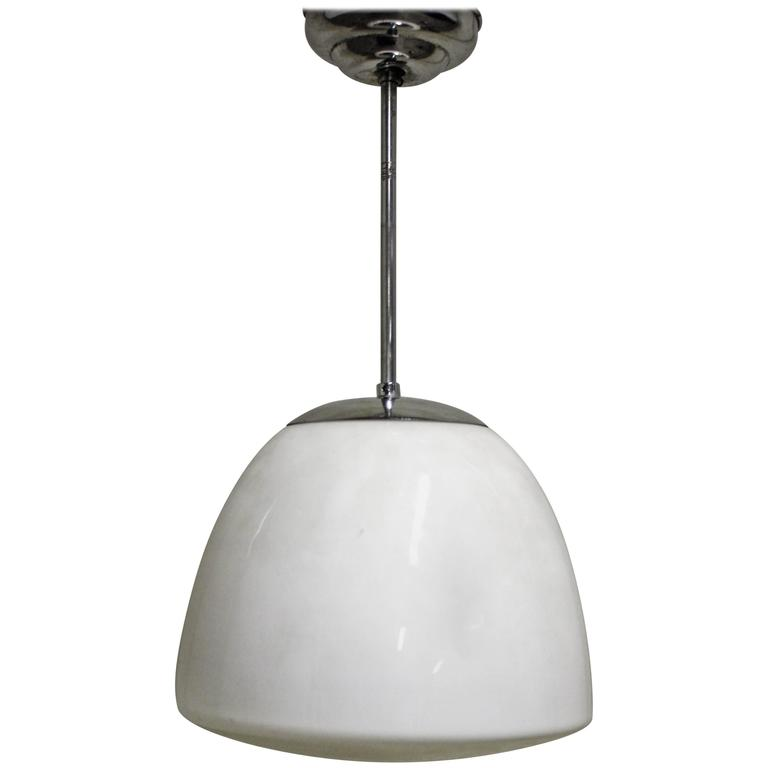 Opaline Pendant Light 1930s At 1stdibs