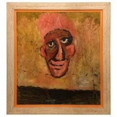 "Large Frame Oil on Masonite Entitled ""The Nose"""