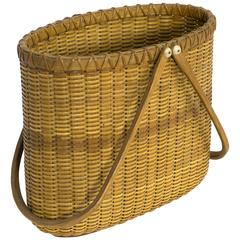 Nantucket Lightship Tote Basket by Paul Willer, circa 1975