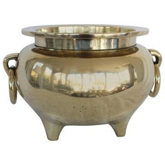 Chinese Solid Brass Cachepot
