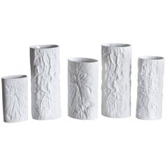 Collection of Brutalist Vases by Martin Freyer