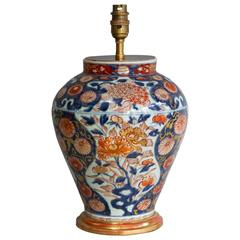 Charming Medium Sized Lamped Japanese Imari Early 18th Century Vase