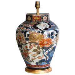 Exceptional Japanese Imari Lamped Vase, circa 1700